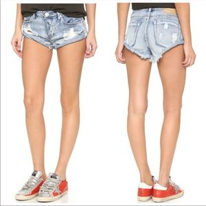 One Teaspoon Bandits High Waisted Denim Shorts